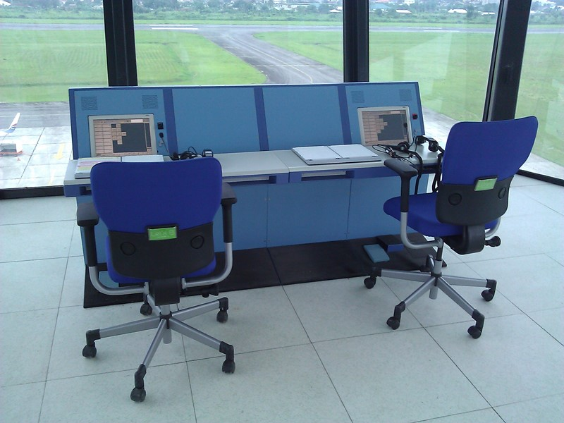 Commissioning of VCCS Console at the Calabar Airport Control tower.
